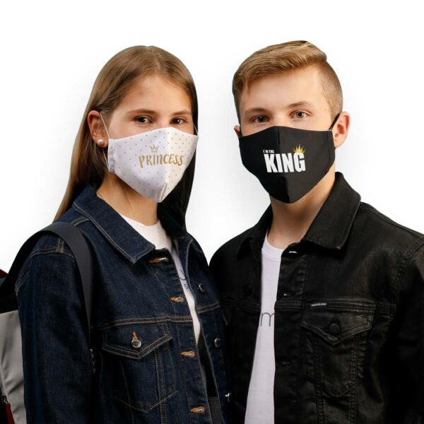 Alina_und_Leon_Shop_mit_King_and_Princess_Maske